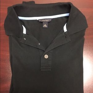 Men's Black banana republic polo shirt
